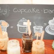 DIY cupcake bar. we did this at a party and it was a huge success!!!! offer various toppings...