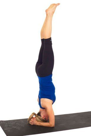 3 easy steps to do a headstand  kristin mcgee yoga moves