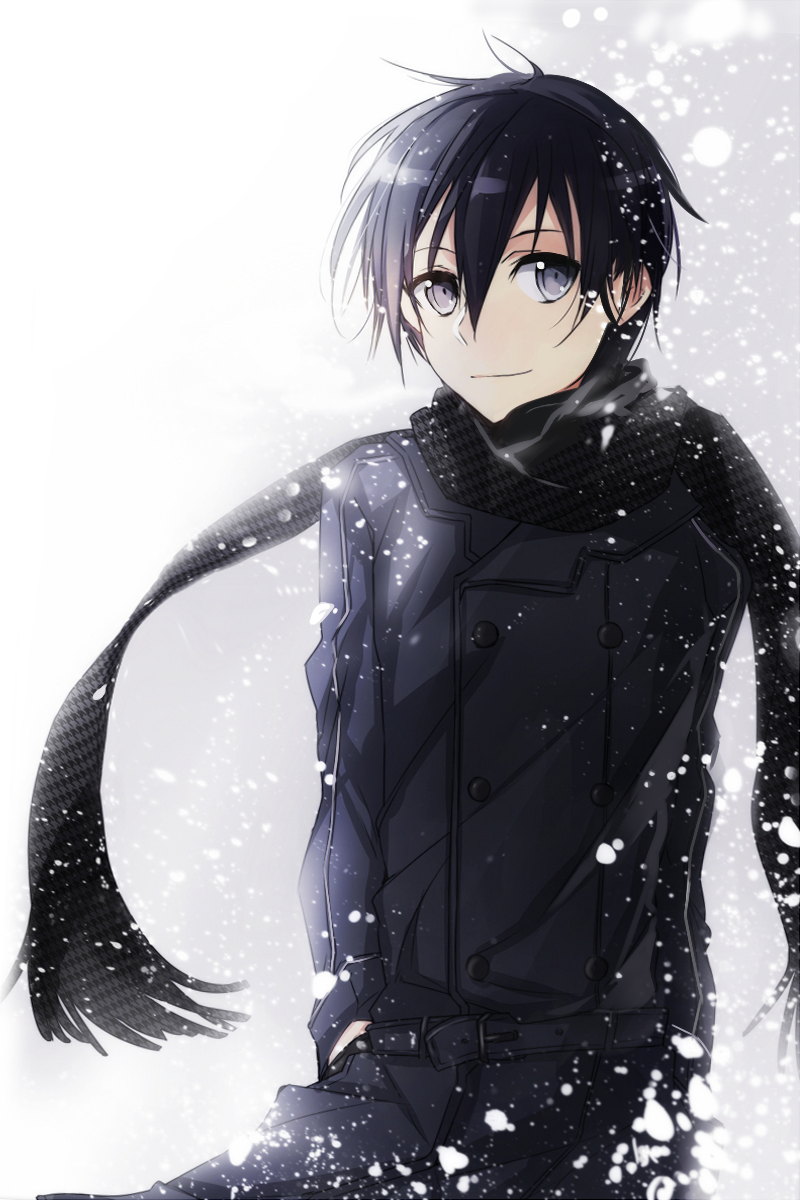 Картинки с аниме парнями зимой