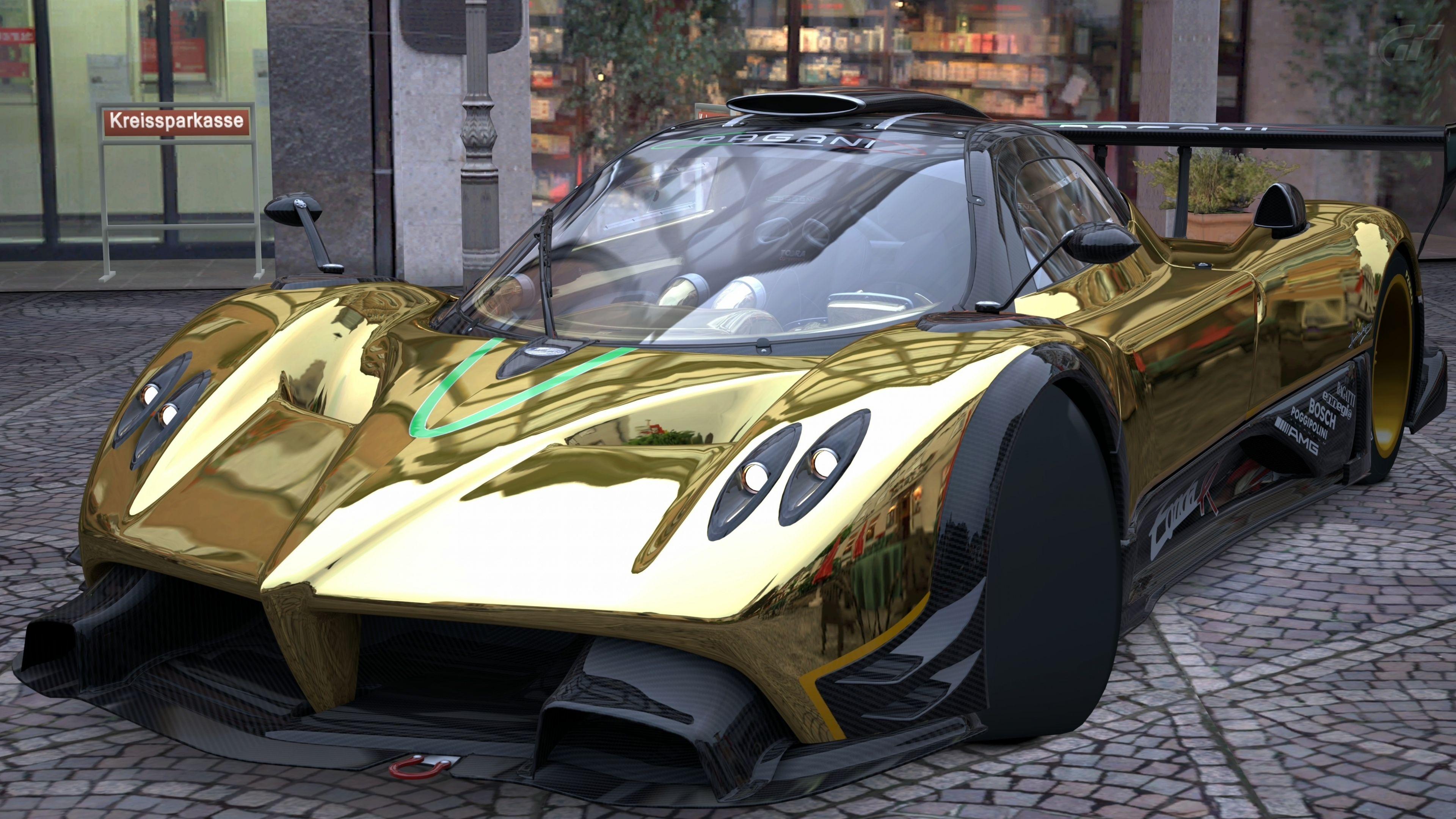 Pagani Zonda R Gold Wallpaper Carros Pinterest Cars Dream