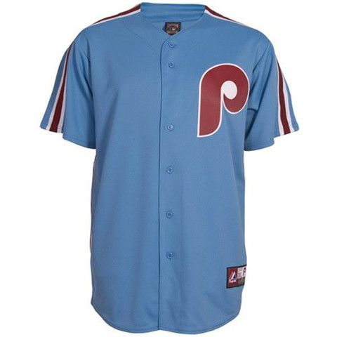purchase cheap c7a93 beace Philadelphia Phillies Columbia Blue John Kruk Replica Road ...