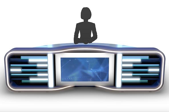 Pin En 3d Virtual Stage Tv Studio Set Design