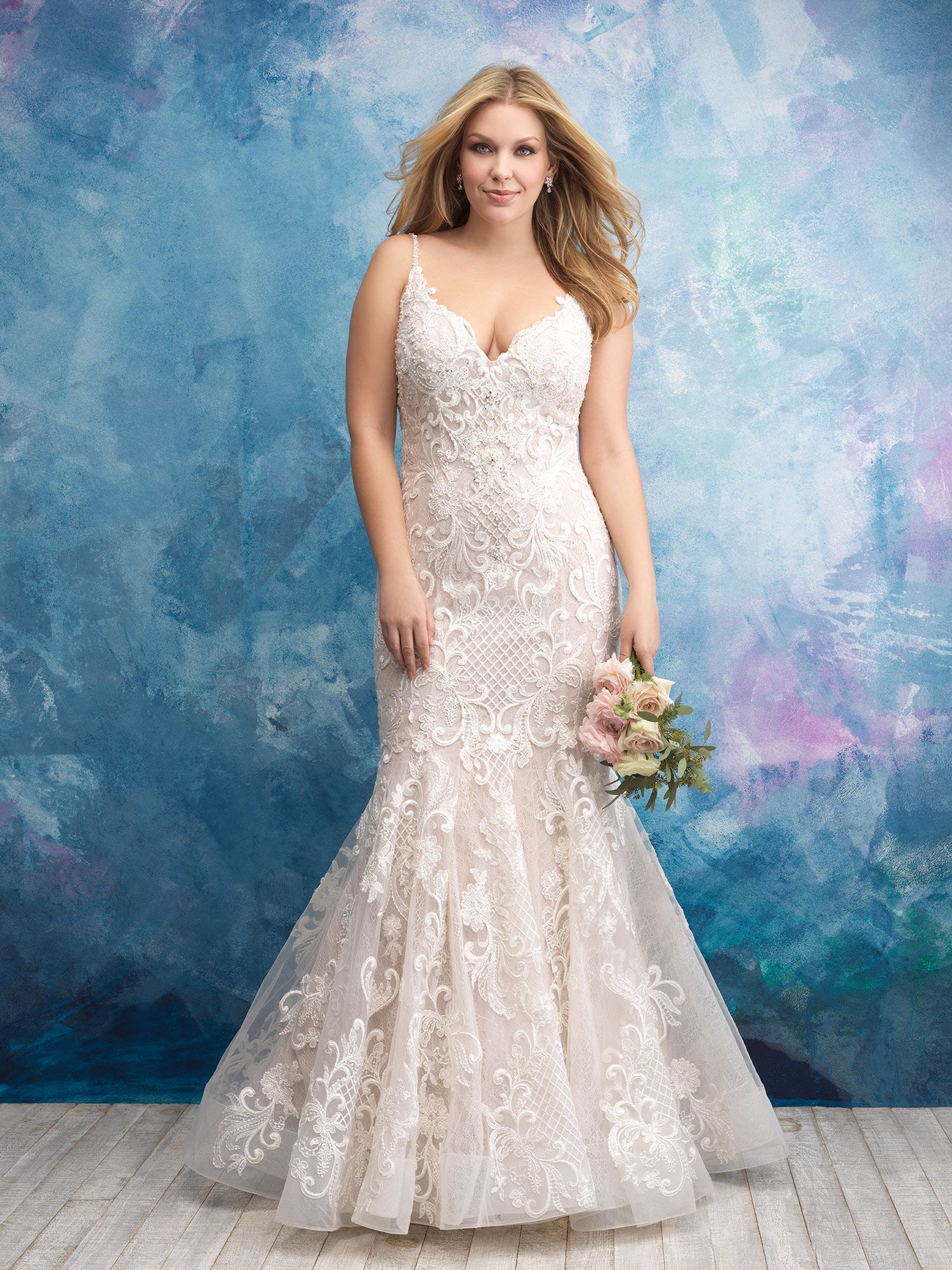 Style W430 Allure Bridal Womens Wedding Dresses Plus Size Wedding Gowns