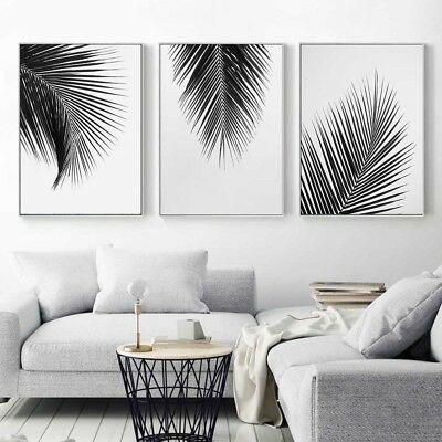 Black White Plant Coconut Leaves Canvas Poster Art Print Wall Painting Decor Ebay Living Room Pictures Wall Painting Decor Home Decor