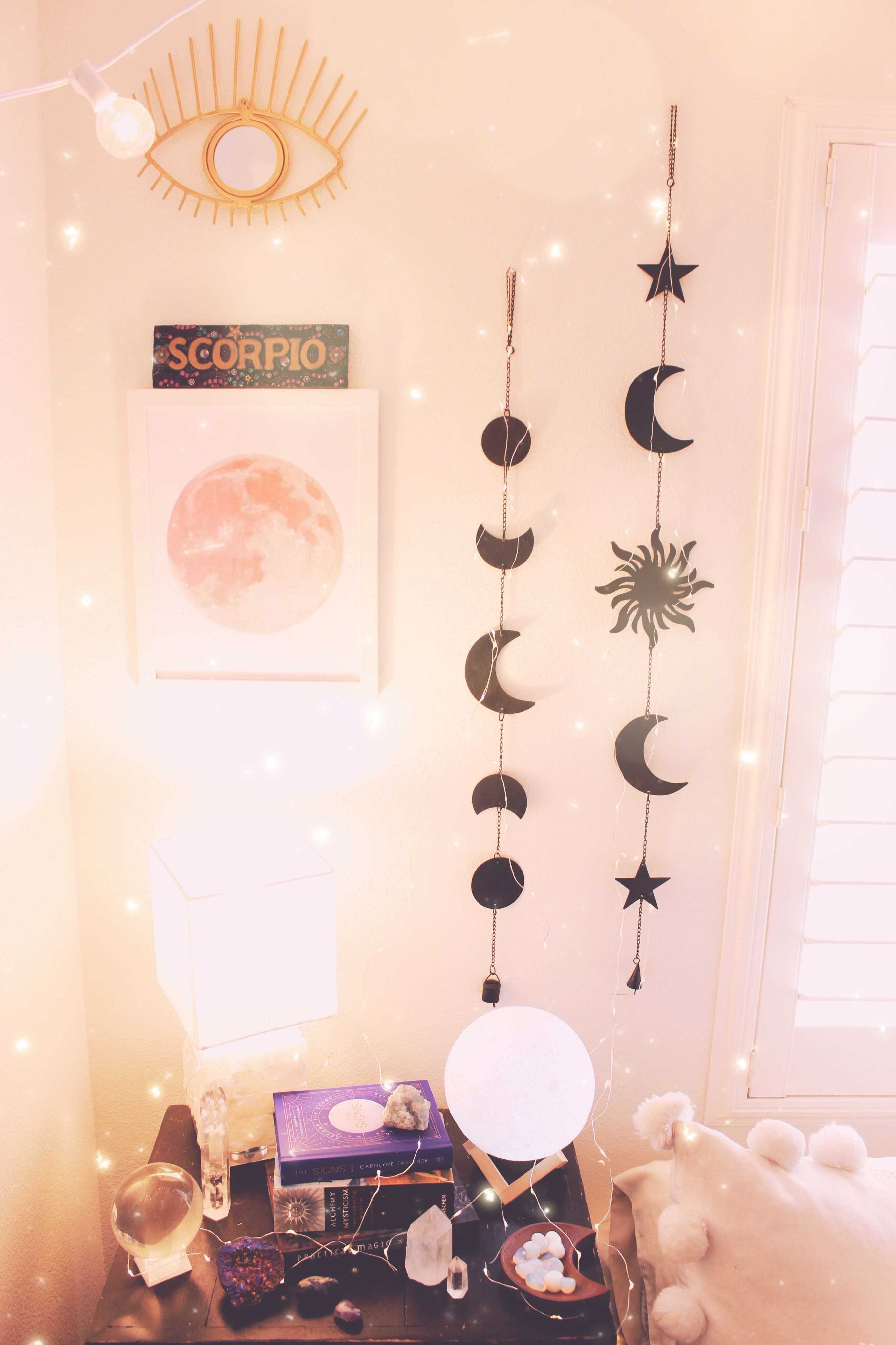 Moon Phases Wall Hanging Decor Hanging Wall Decor Bohemian Bedroom Design Boho Chic Interior Design