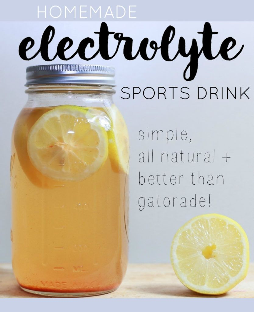 how to make your own electrolyte drink
