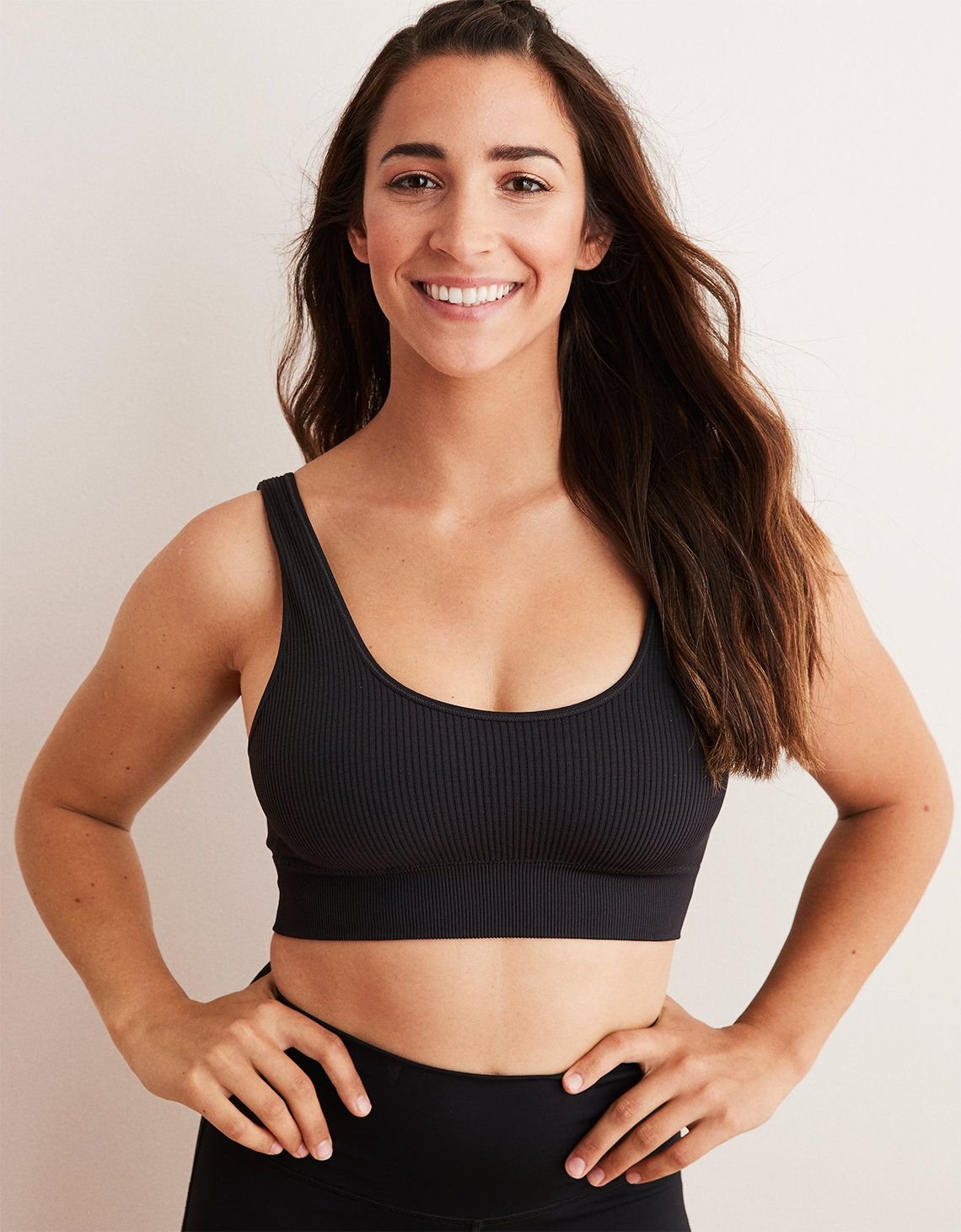 a9a9c4640a1 Aerie Chill Seamless Sports Bra by American Eagle Outfitters. Product Image