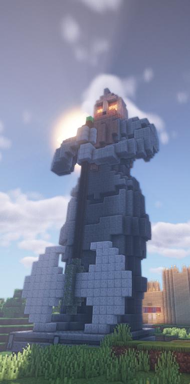 Made a Dwarf statue in survival