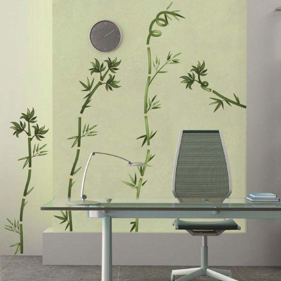 Art Applique By Kmg Bamboo Sticks Decorative Wall Decal Bamboo