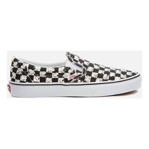 e778667a6cd Vans X Peanuts Men s Classic Slip-On Trainers - Snoopy Checkerboard ( 72)