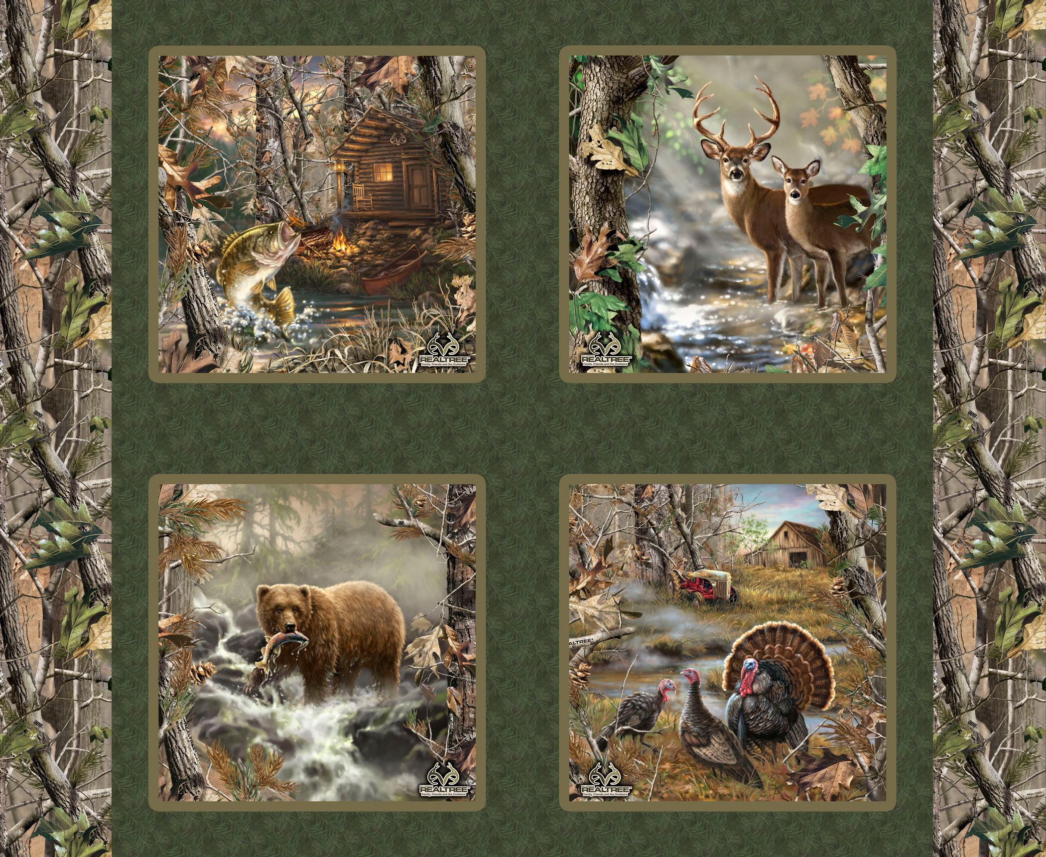 Deer Fabric Panels For Quilting Deer Fabric Print