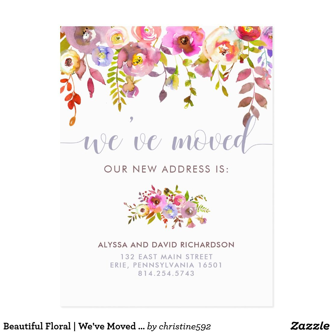 New Address Cards Personalised 2021