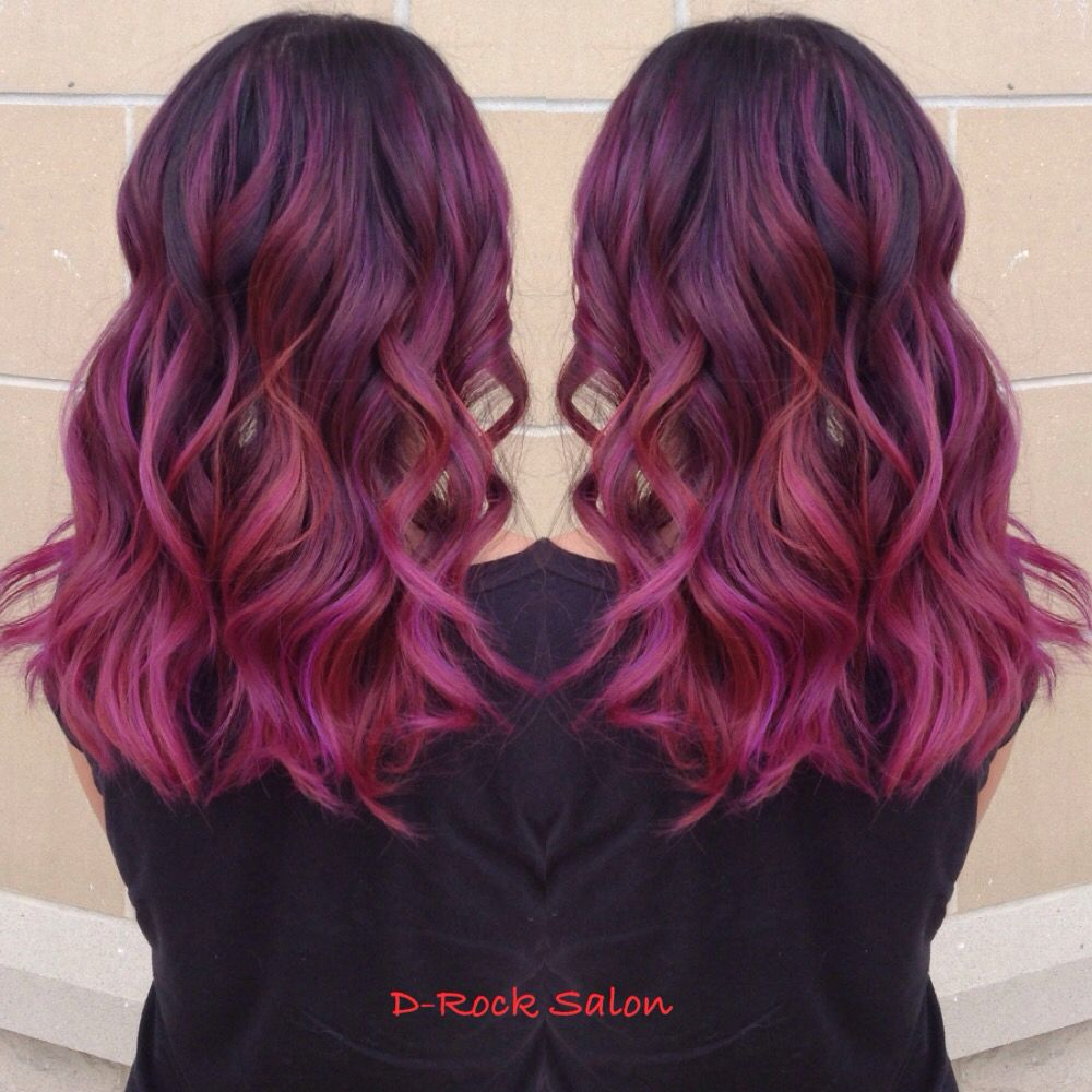 Rose Purple Color Melt Hair Color 2015 Ombre Red Purple Balayage Purple Hair Hair Trend 2015 Red B Purple Ombre Hair Color Melting Hair Red Ombre Hair