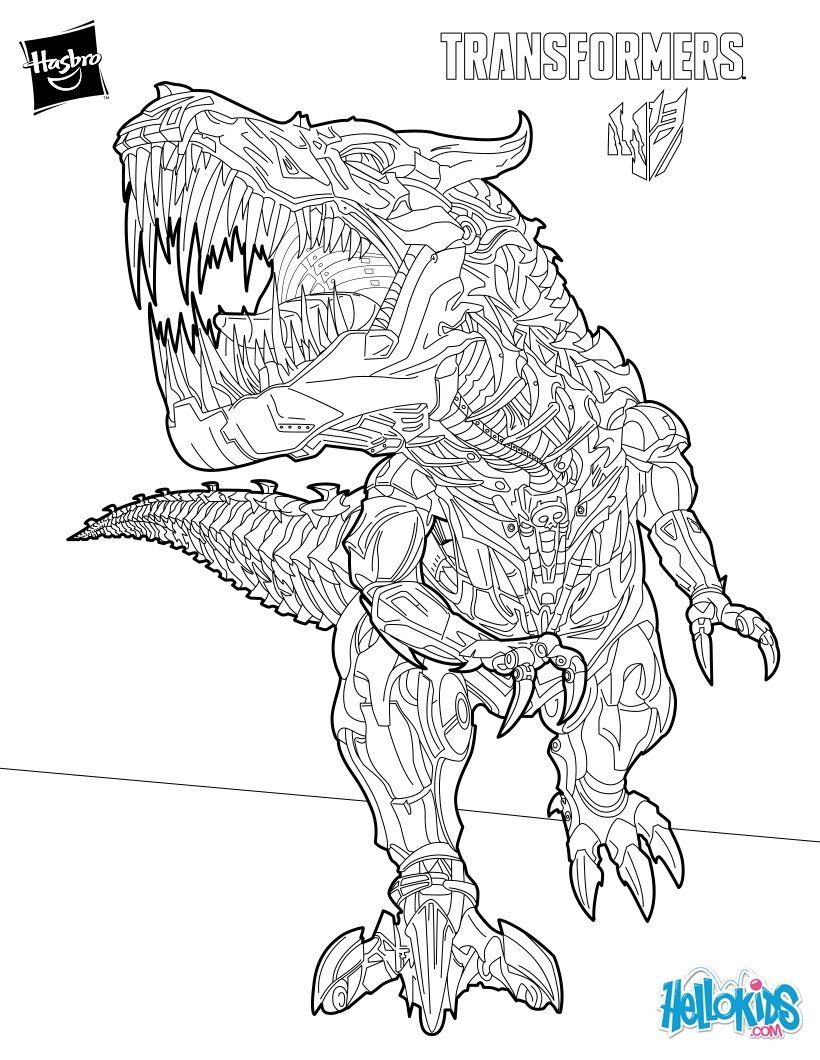 Warrior Grimlock Coloring Page More Transformers Sheets On Hellokids