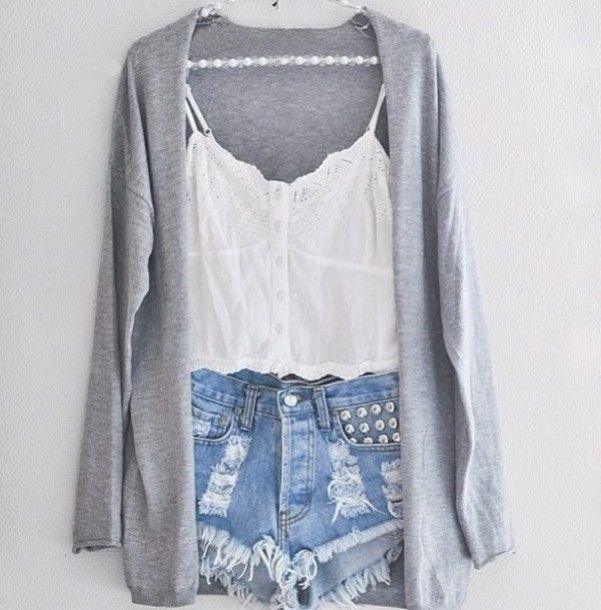 Cute sweater and shorts