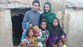 Waheed, Davina and Afghan kids