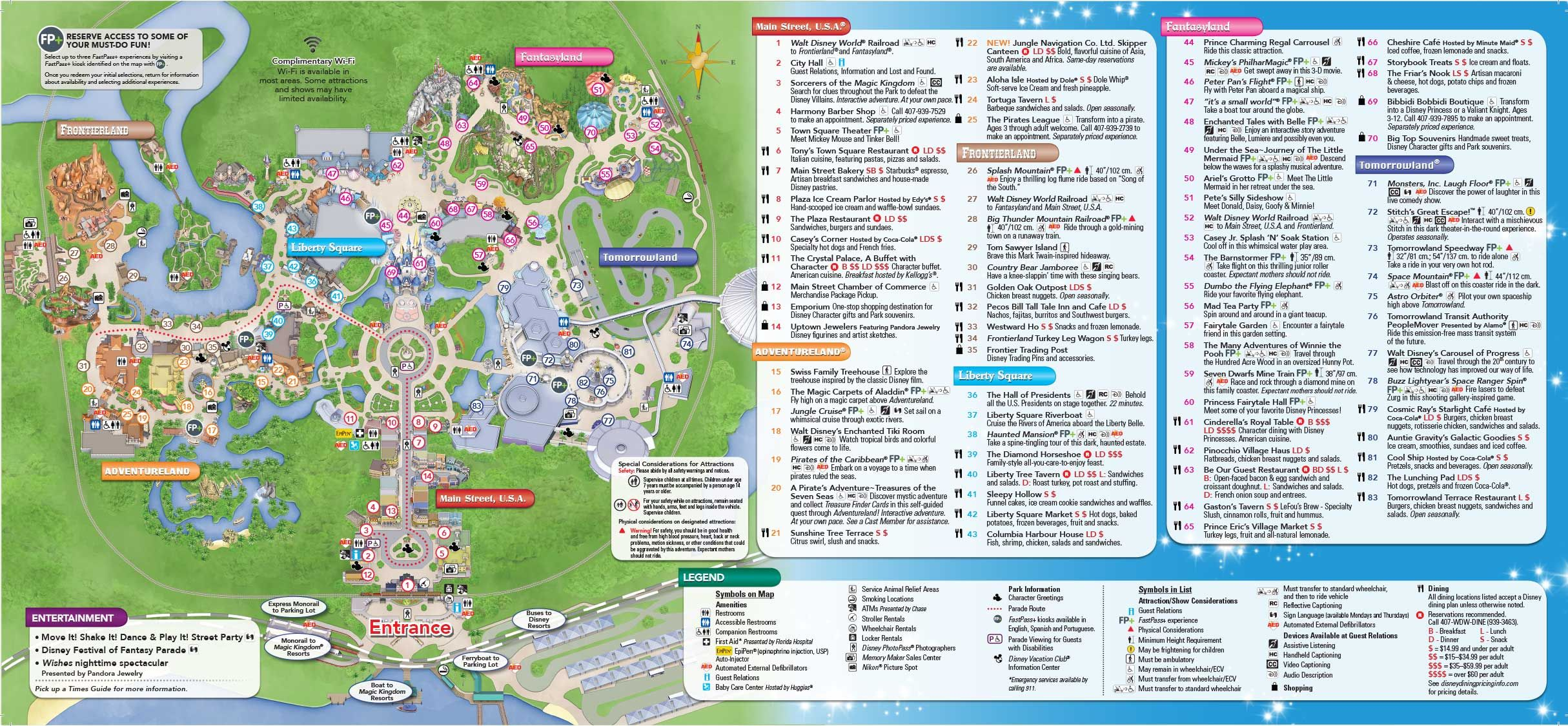 graphic regarding Printable Magic Kingdom Map identify Magic Kingdom Park Map - Walt Disney World-wide Disney World wide inside