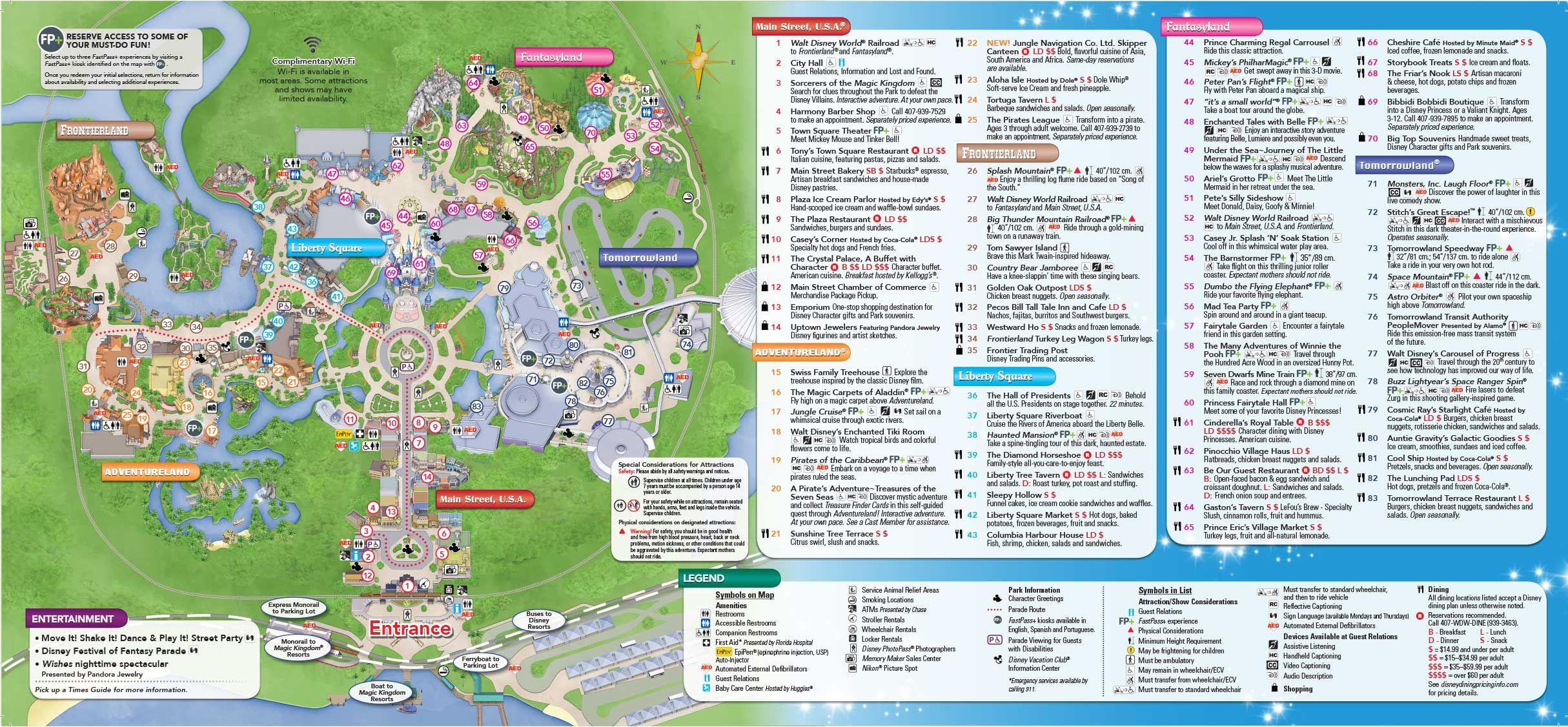 Magic Kingdom Park Map My blog
