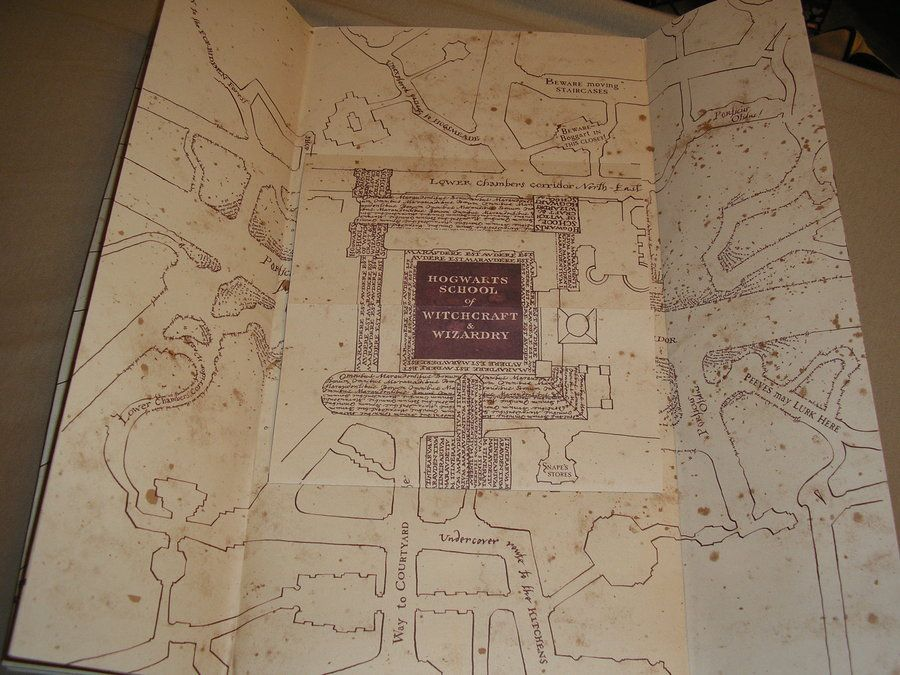 Marauders Map An Awesome Up Close Look With A Bunch Of