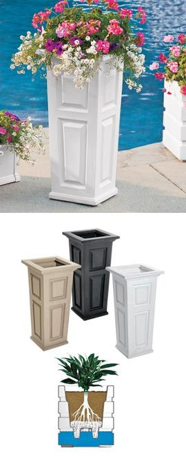 Self-Watering Tall Planter, Self-Watering Tray, Planter Box | Solutions