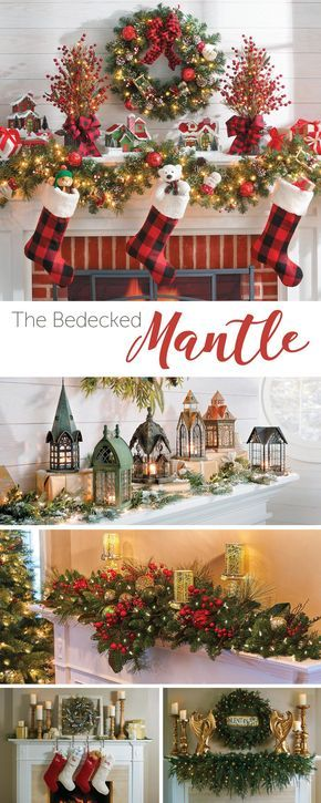 Don\u0027t know how to decorate your mantel for Christmas? Check out our