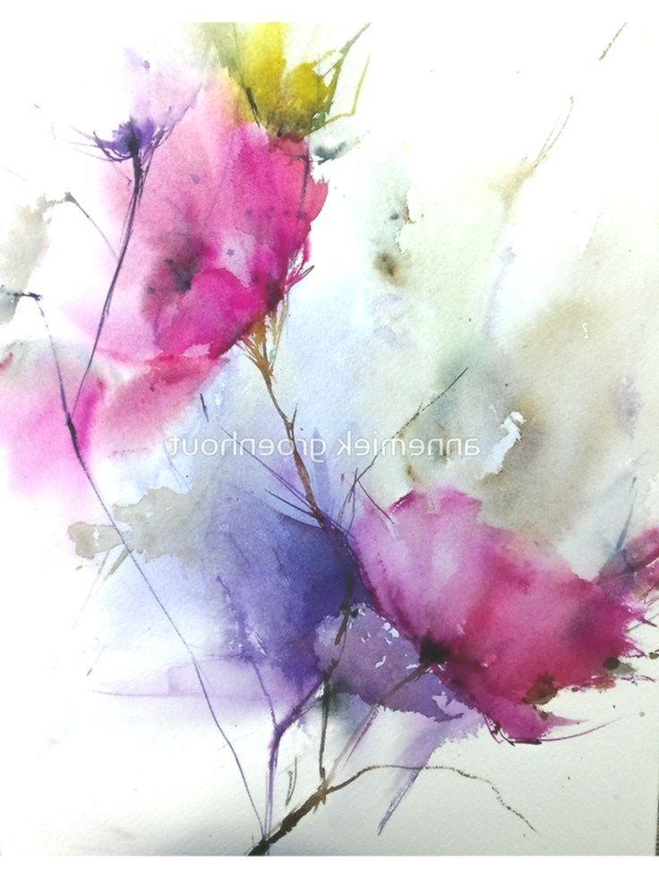 Watercolor2 Leinwanddruck Blumenzeichnen Aquarellbilder Blumen