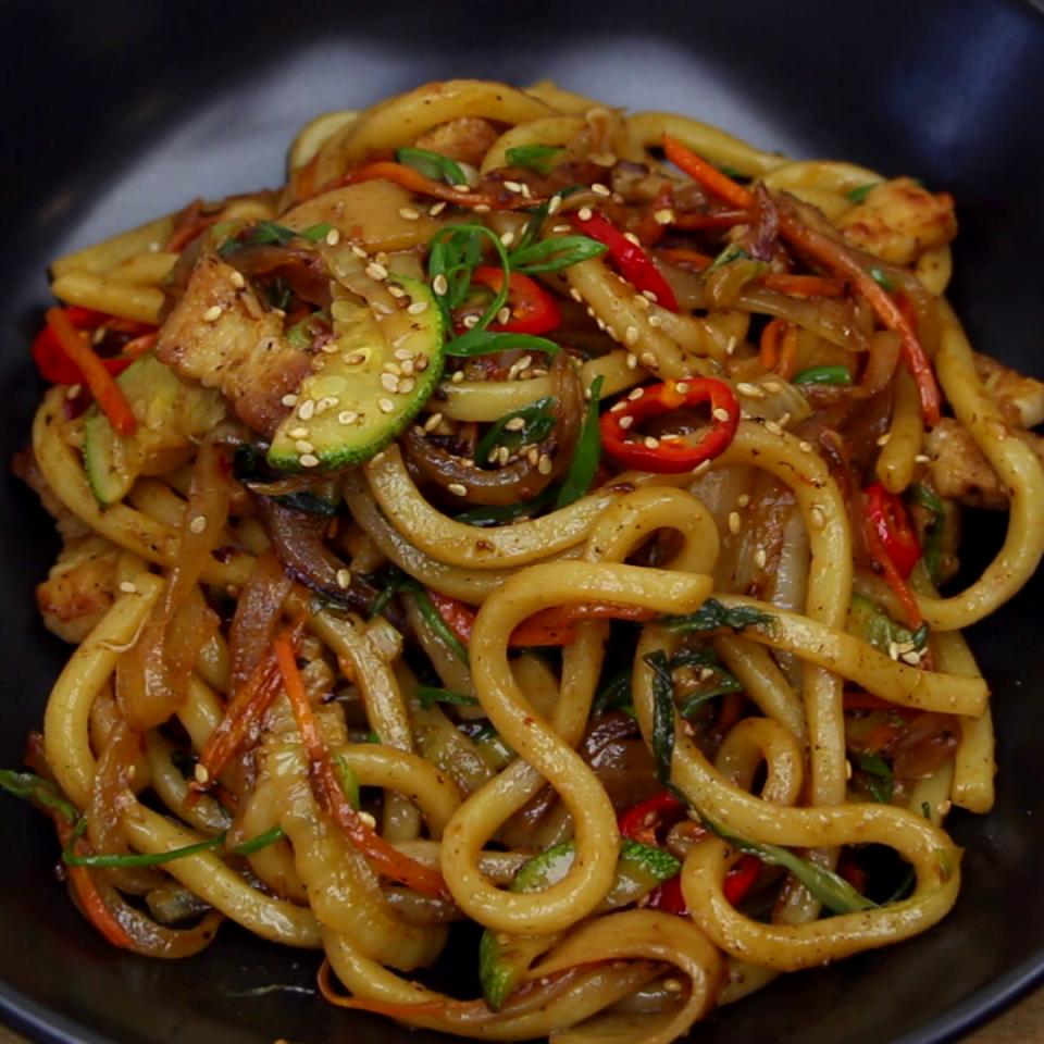 Stir Fry Udon | Recipe | Udon noodles, Fried udon, Food