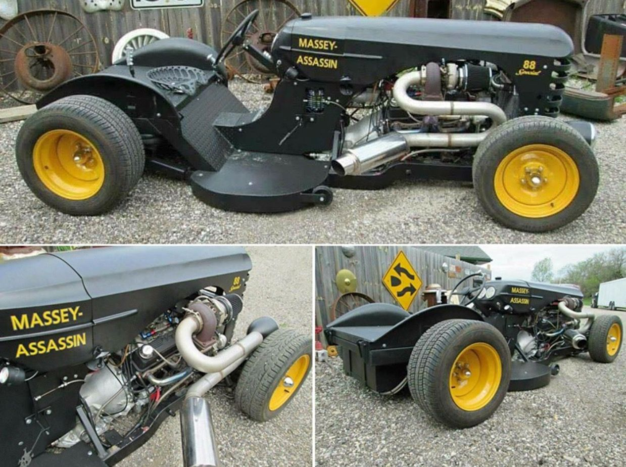 Lawn Mower Turbocharger : Custom lawn mower twin turbo v muscle cars
