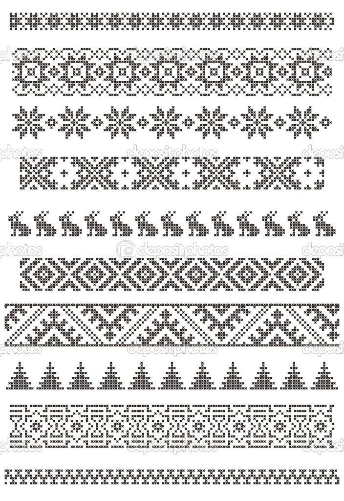 Knit fair isle pattern, good for borders, chart   Loom   Pinterest ...