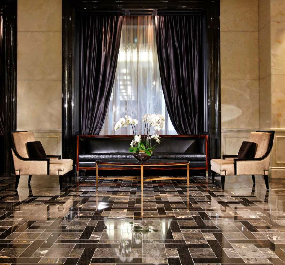 trump international hotel lobby black and gold luxury | commercial