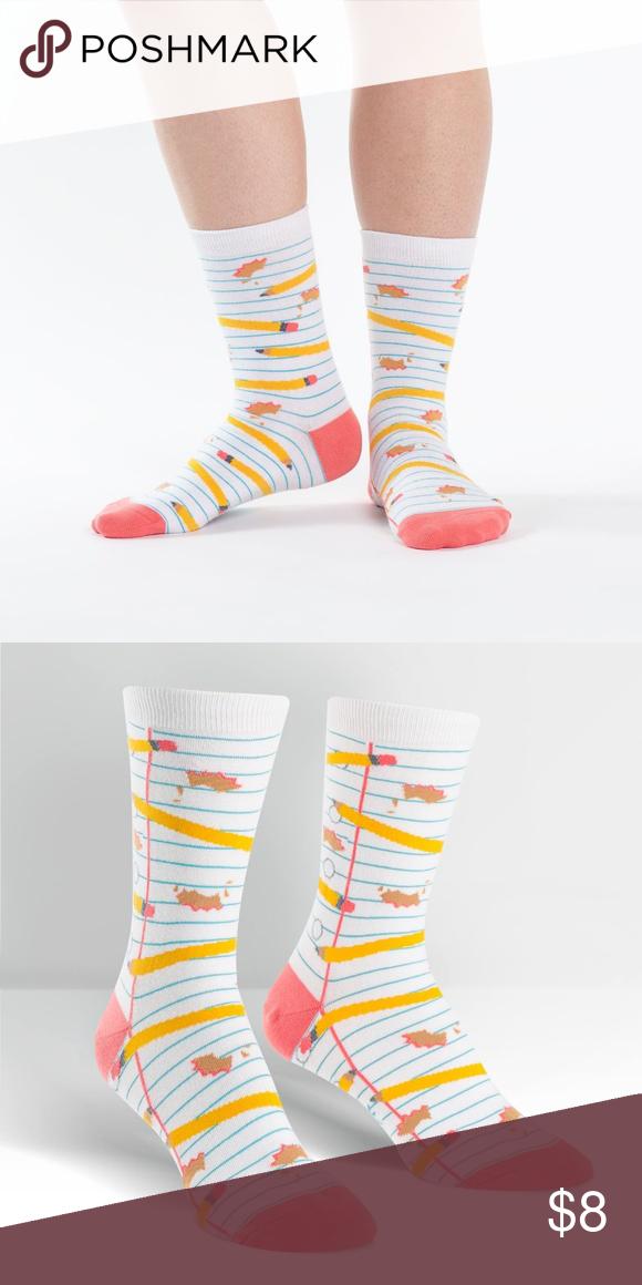 Sock it to Me pencil crew socks modcloth Adorable, fun crew socks by