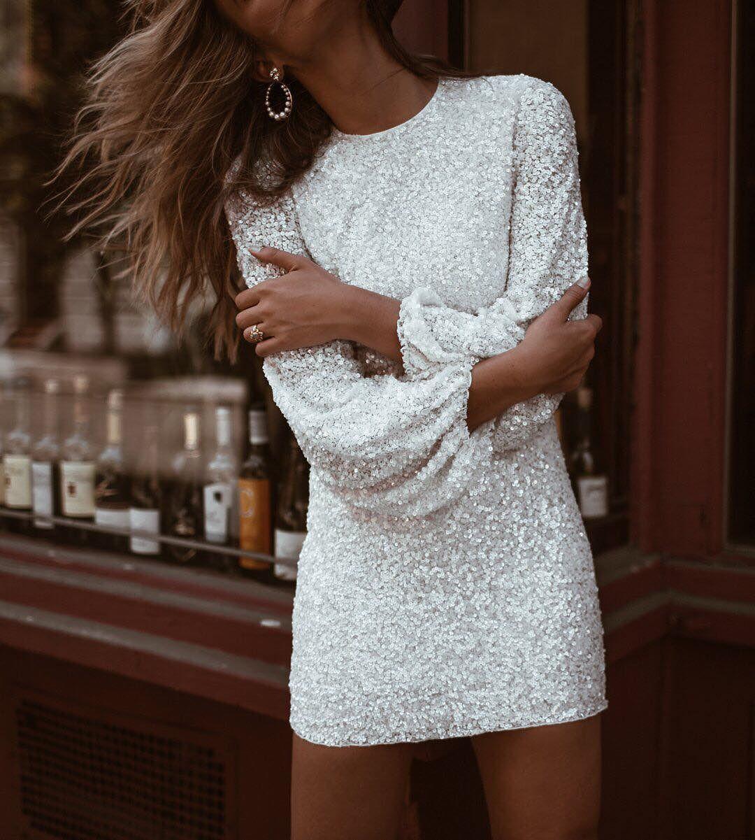 Social Commerce Bazaarvoice Long Sleeve Sequin Dress Sequin Bodycon Dress Eve Outfit [ 1201 x 1080 Pixel ]