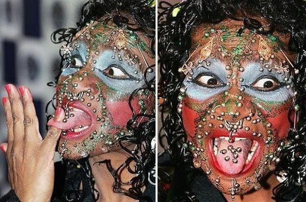 7 Weirdest Body Piercing Face Piercings Weird Piercings