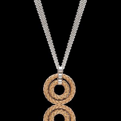 Fifth Season by Roberto Coin Twin circle pendant