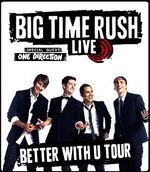 Feb 24th One Direction Joined Big Time Rush On Their Better With U Tour The Better With U Tour Stopped At The Rosemo Big Time Rush I Still Miss You Big