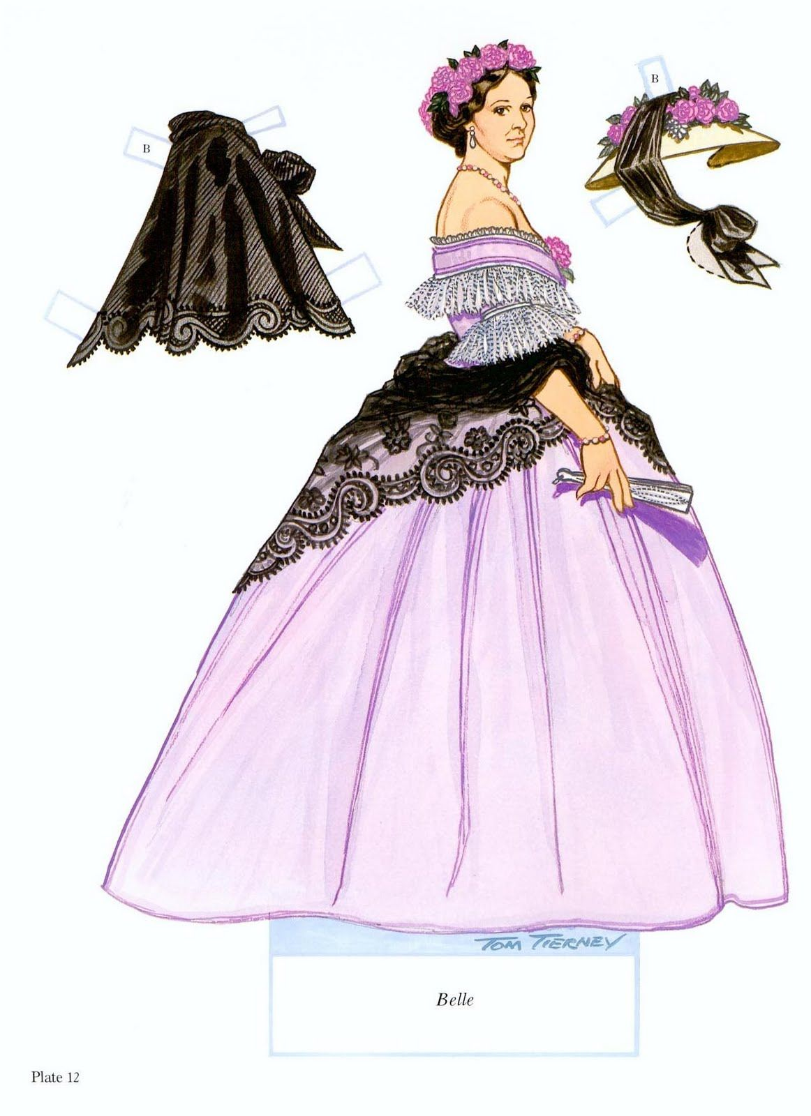 Tom tierney colonial fashions paper dolls - Southern Belles Paper Dolls By Tom Tierney 14