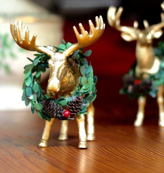 Moose Decor Christmas Table Decorations Christmas by HalfPintFauna