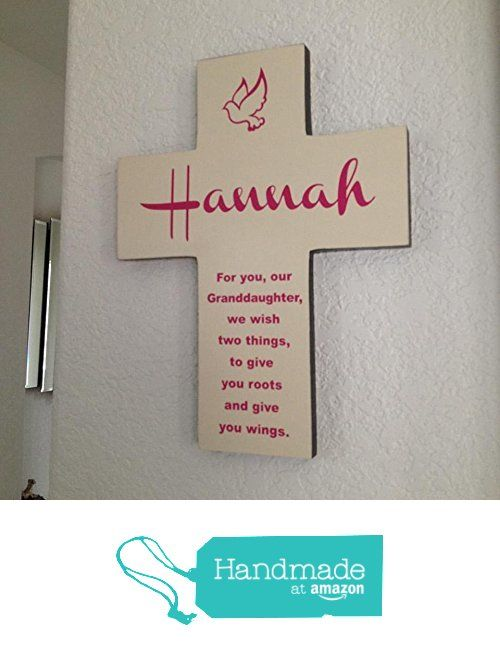 Granddaughter Cross Personalized With Her Name On Pine