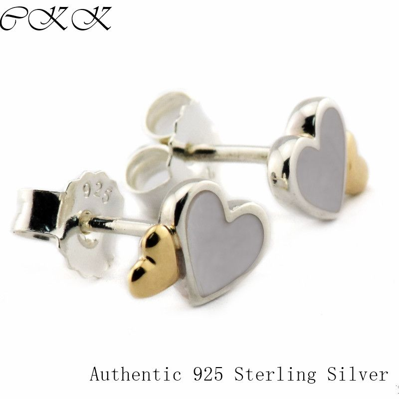 925 Sterling Silver w//Real 14kt MOP Post Earrings