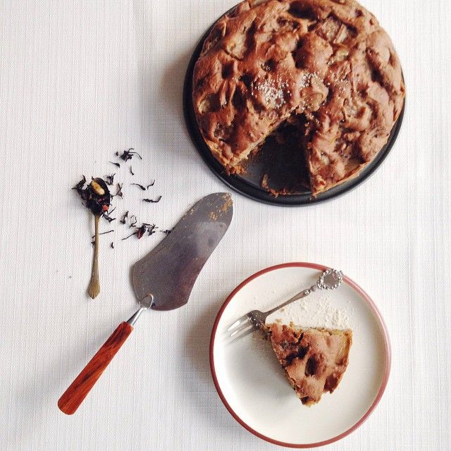 Autumn Cake With Chai Mixture And Pear