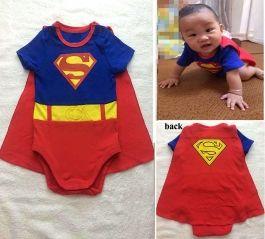 fac058468 Superman Baby Infant Kid Child Toddler Grow Suit Set Onesie Bodysuit ...