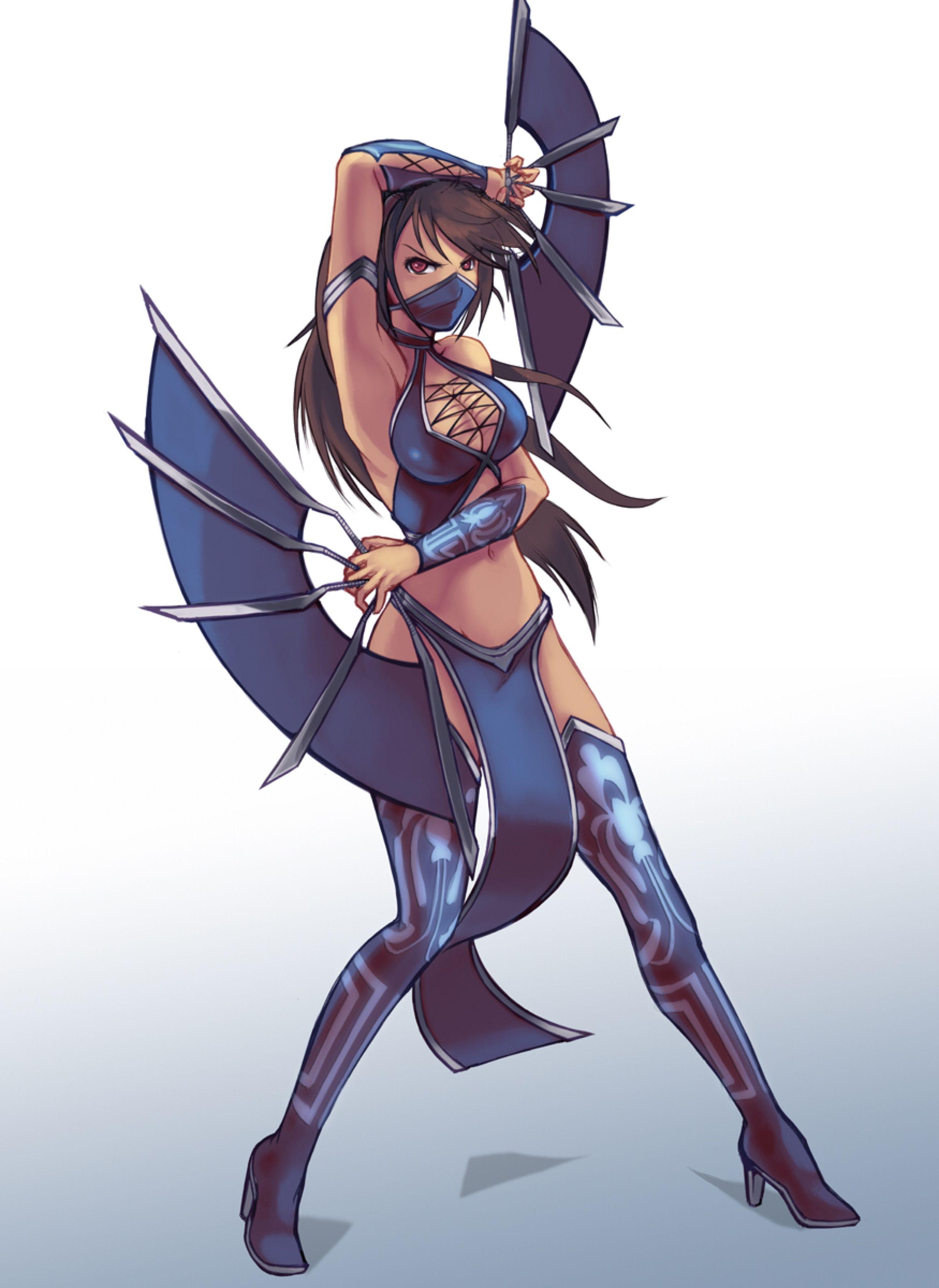 Princess Kitana From Mortal Kombat By Nick Savino Personagens De