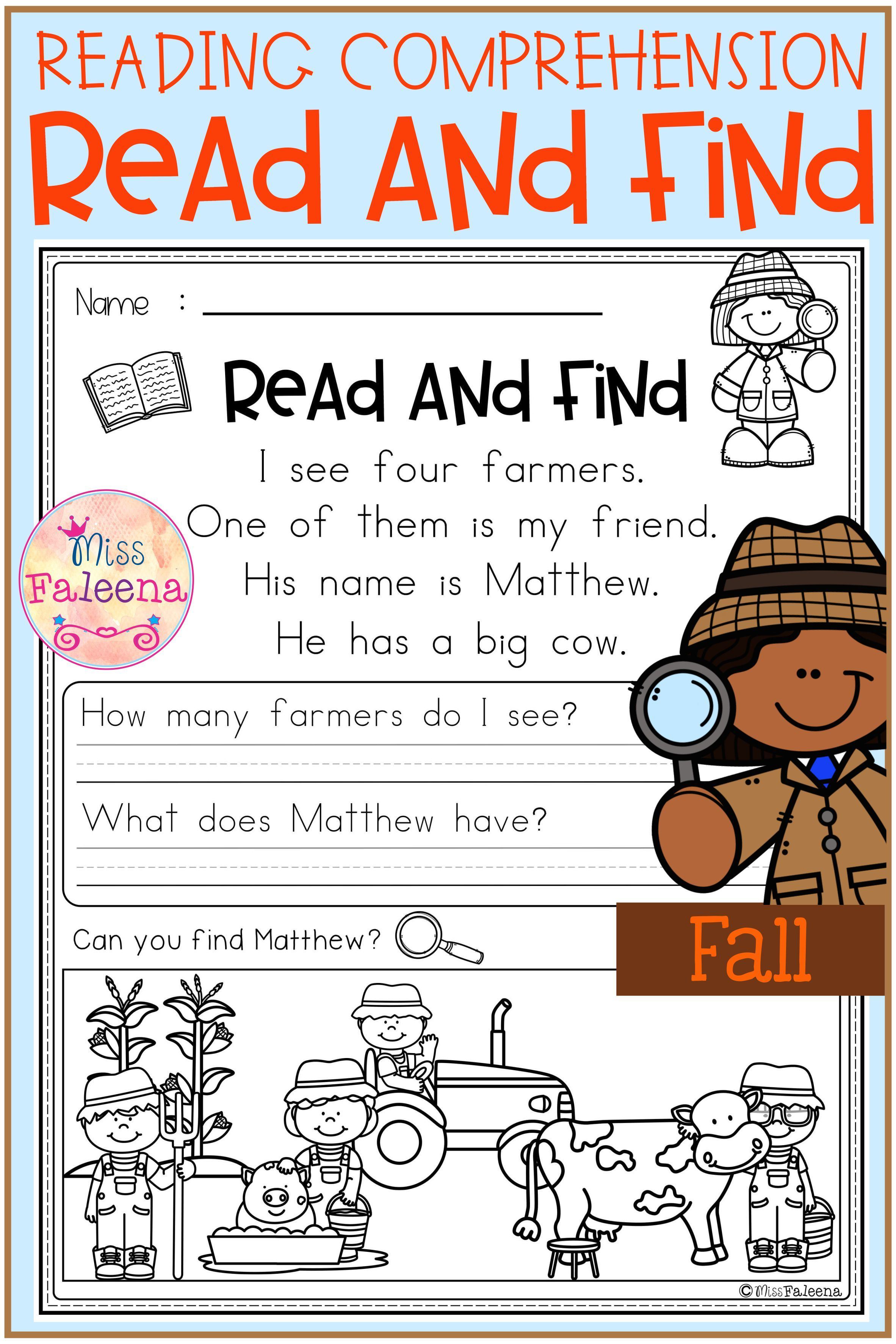 Fall Reading Comprehension Read And Find Fall Reading Comprehension Reading Comprehension Reading Comprehension Worksheets [ 3544 x 2364 Pixel ]