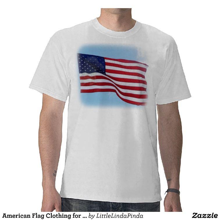 American flag clothing for men tshirt