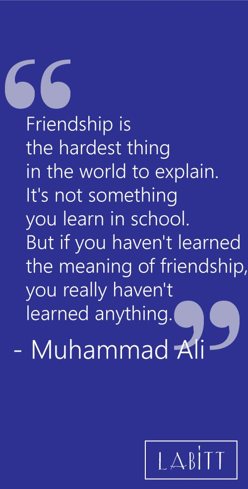 Best Friend Day Quotes And Sayings | Friendship Quote By Muhammad Ali
