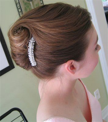 Classic Bridal Updo Hairstyle : French updo hairstyles bride.ca wedding hair: classic bridal