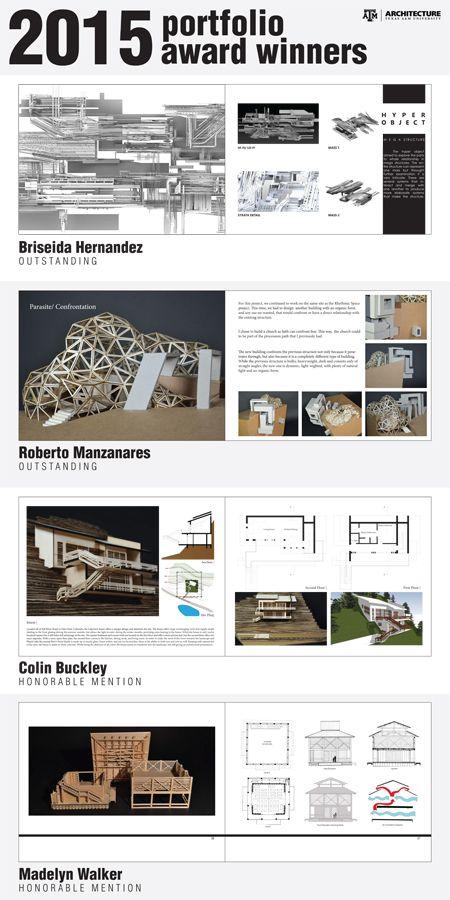 Undergraduate portfolio winners portfolio pinterest for Architectural portfolio ideas