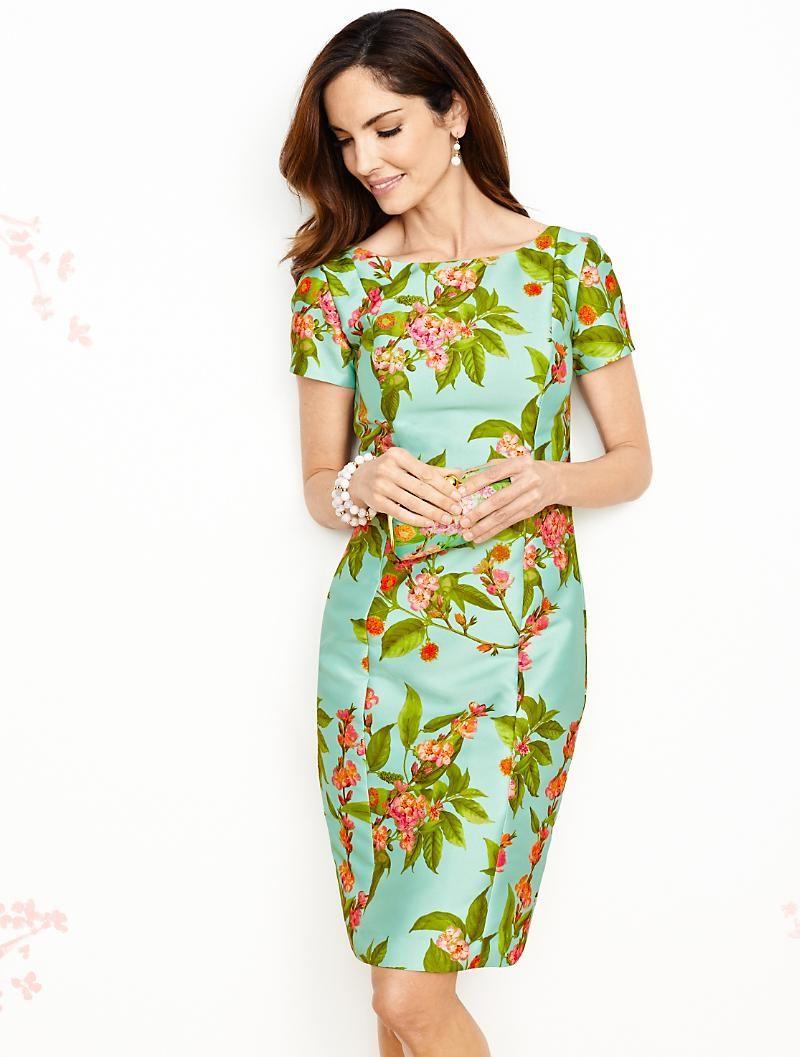 Talbots Botanical Flowers Sheath Dresses Everyday Dresses Long Dresses Casual Maxi [ 1057 x 800 Pixel ]