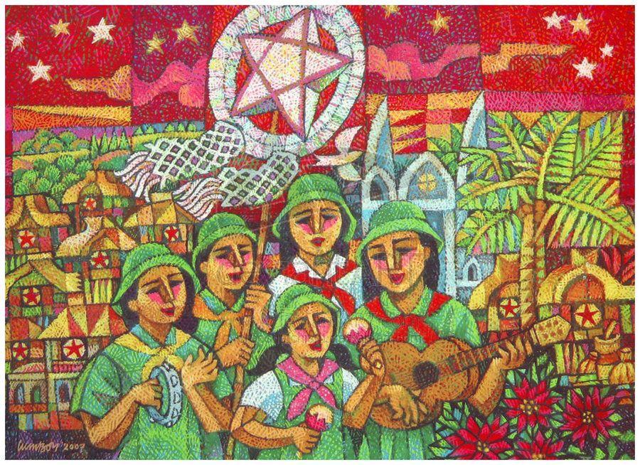 Christmas Carols, by Ninoy Lumboy, a Filipino artist