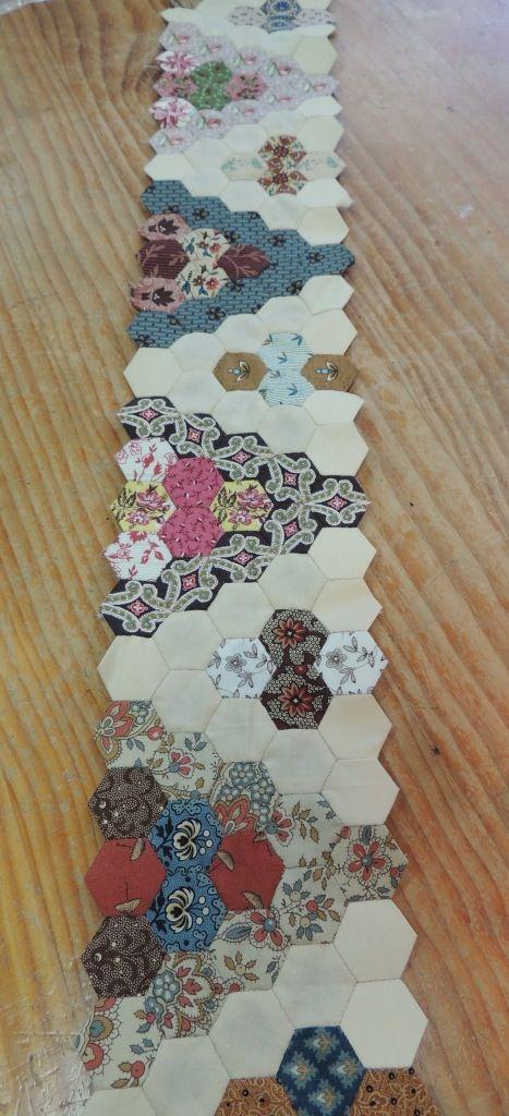 Camino hex gonos hexagonos patrones de colchas - Patrones colcha patchwork ...